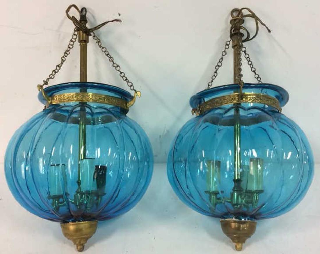 Pair Mid Century Italian Swag Lamps C. 1960's