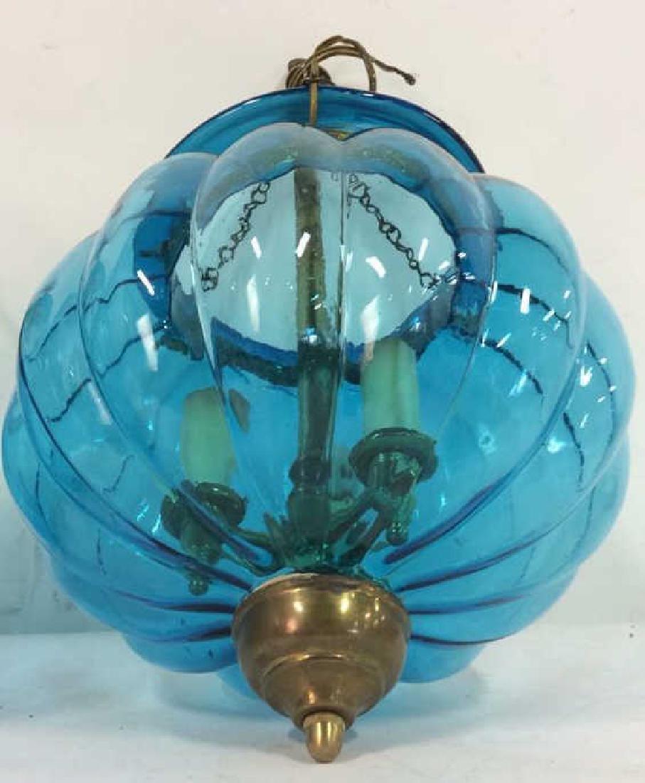 Pair Mid Century Italian Swag Lamps C. 1960's - 4