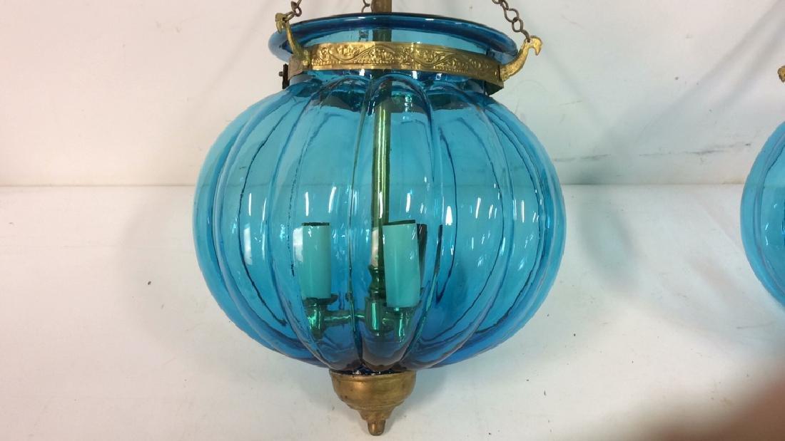 Pair Mid Century Italian Swag Lamps C. 1960's - 5