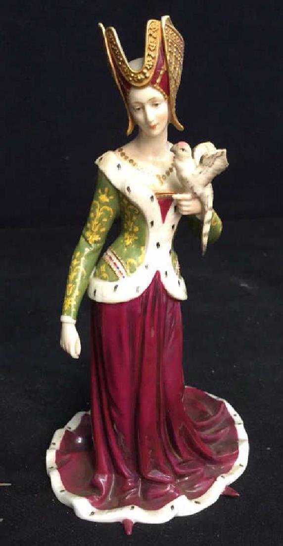 Pair of Porcelain Female Figurals in Gowns Crowns - 5