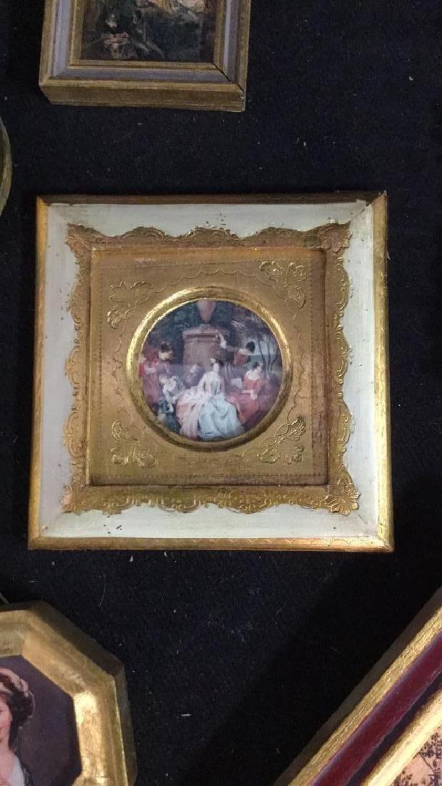 Group Miniature Carved Gold Leafed Frames - 4