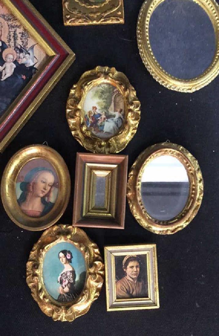 Group Miniature Carved Gold Leafed Frames - 6