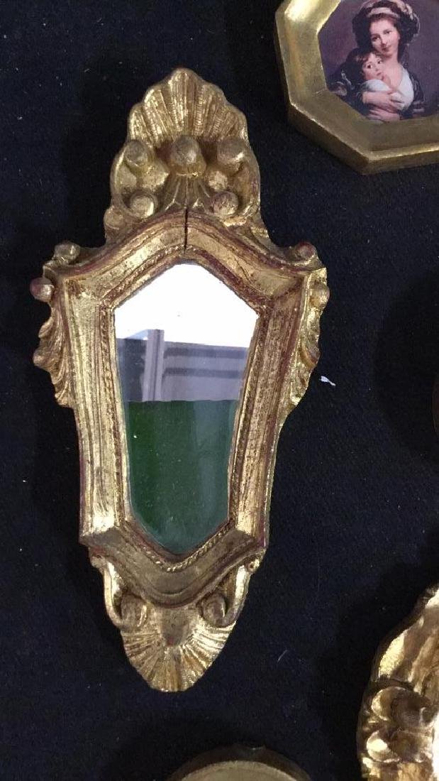 Group Miniature Carved Gold Leafed Frames - 7