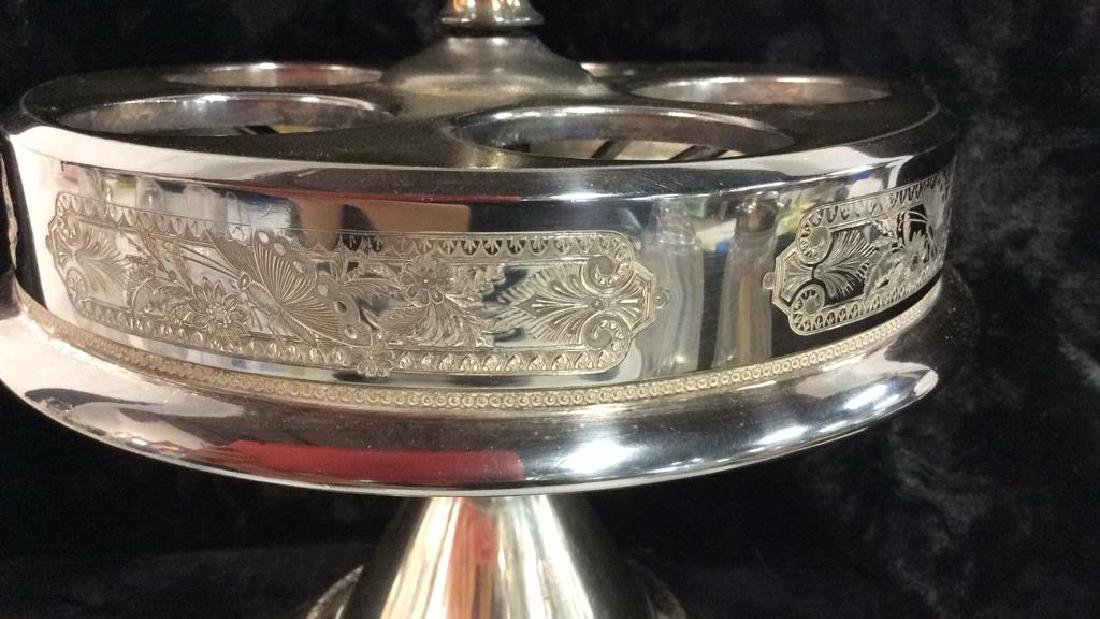 WILCOX SILVER PLATE CO SilverPlate&Glass Cruet Set - 4