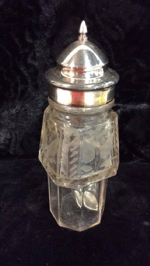 WILCOX SILVER PLATE CO SilverPlate&Glass Cruet Set - 8