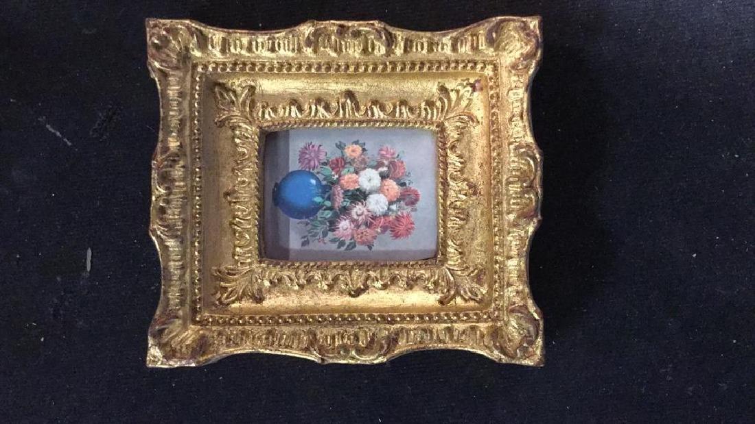 Group 5 Miniature Carved Gold Leafed Frames - 5