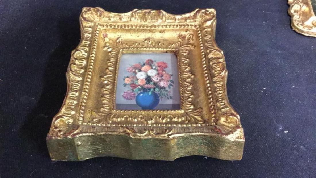 Group 5 Miniature Carved Gold Leafed Frames - 7