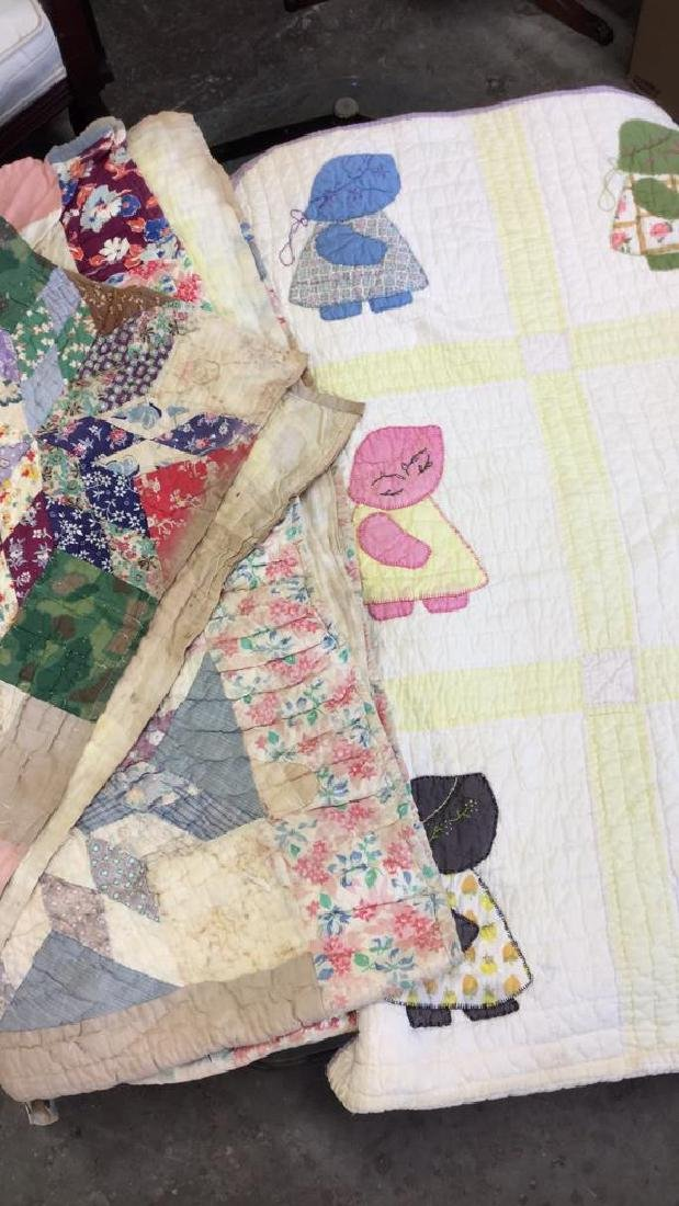 Lot 2 Vintage Poss Antique Handmade Quilts