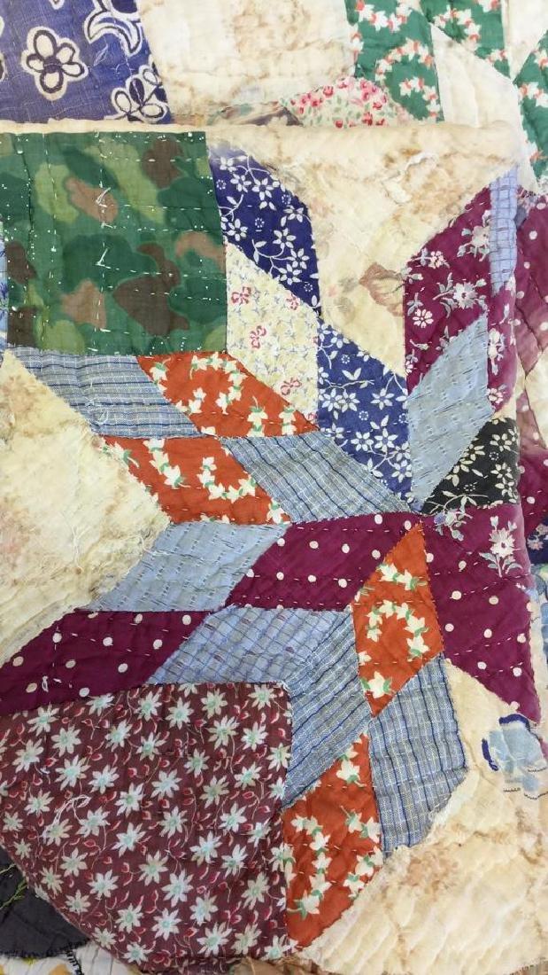 Lot 2 Vintage Poss Antique Handmade Quilts - 4
