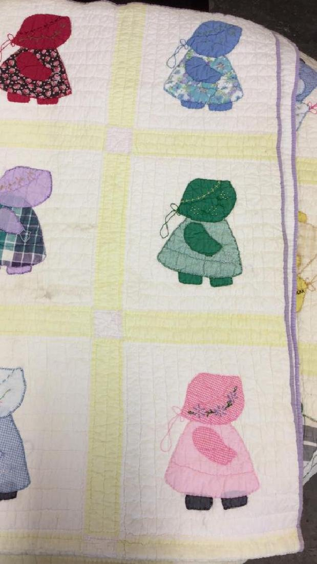 Lot 2 Vintage Poss Antique Handmade Quilts - 6