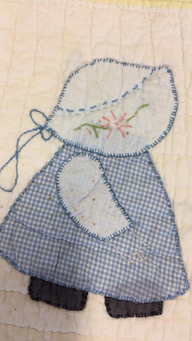 Lot 2 Vintage Poss Antique Handmade Quilts - 8