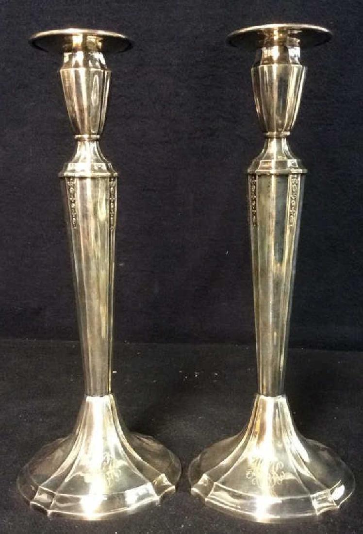 Pair GORHAM Silver Soldered Candlesticks