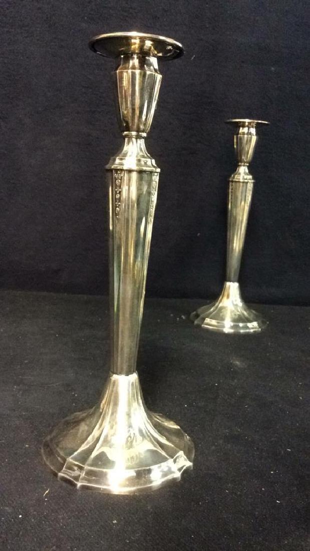 Pair GORHAM Silver Soldered Candlesticks - 2