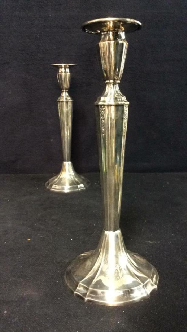 Pair GORHAM Silver Soldered Candlesticks - 3