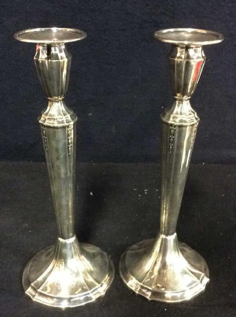 Pair GORHAM Silver Soldered Candlesticks - 5