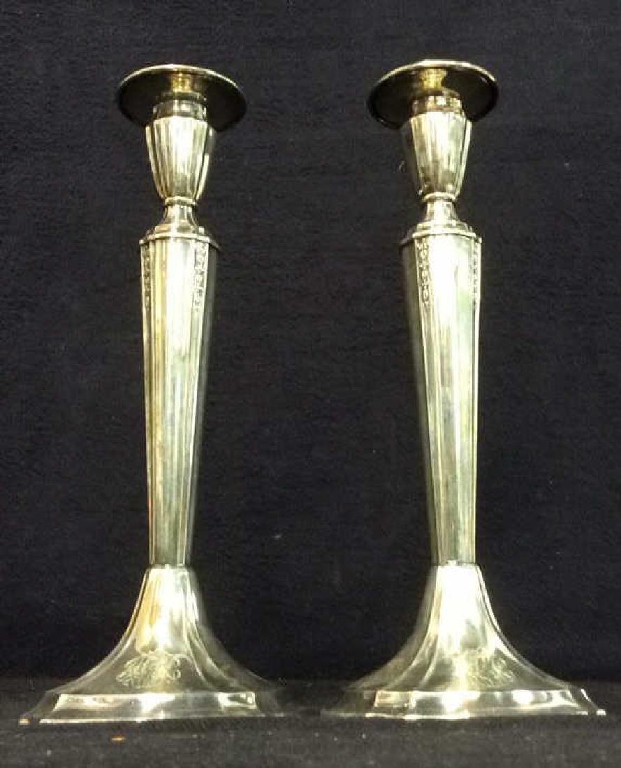 Pair GORHAM Silver Soldered Candlesticks - 6