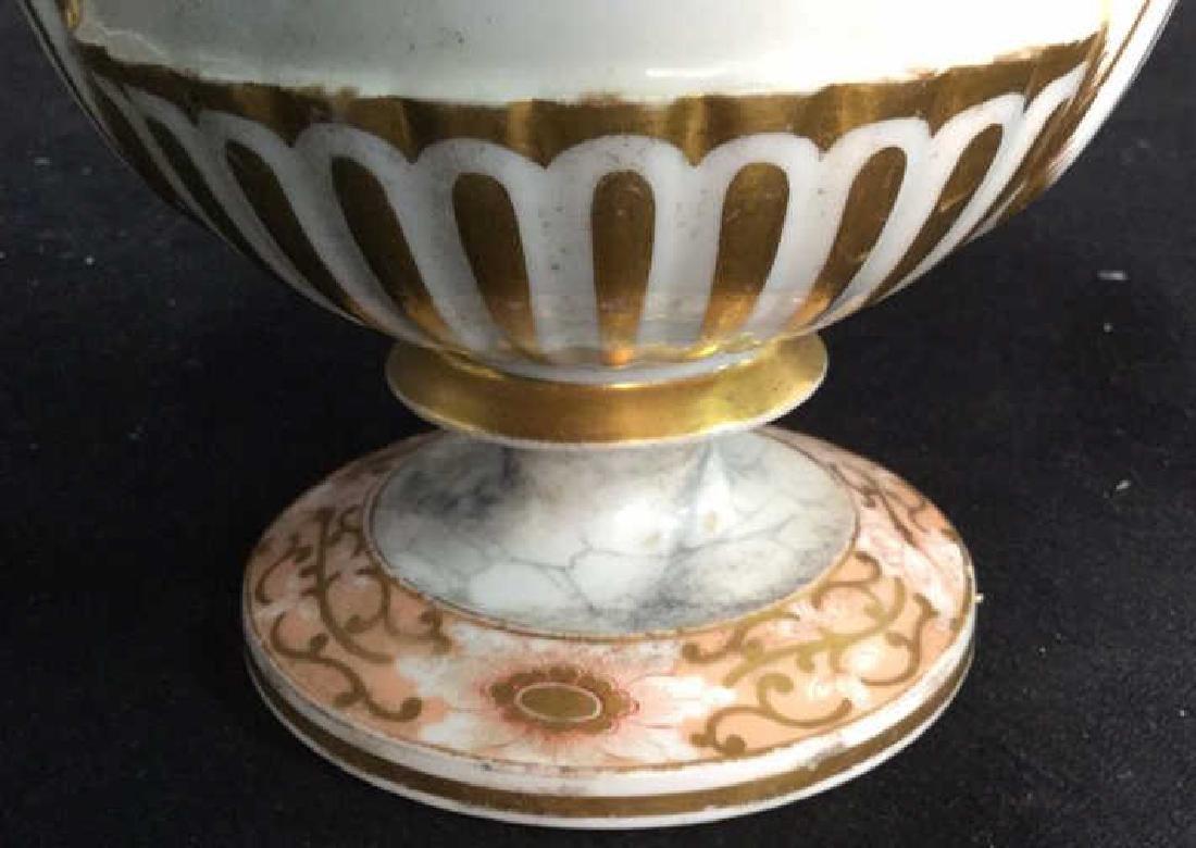 Antique Painted Porcelain Urn W Lion - 3