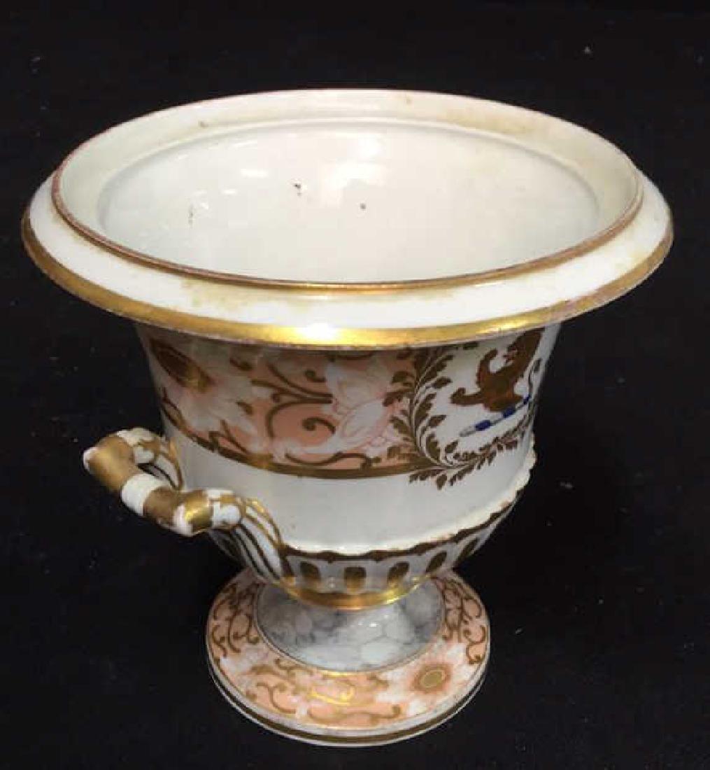 Antique Painted Porcelain Urn W Lion - 6