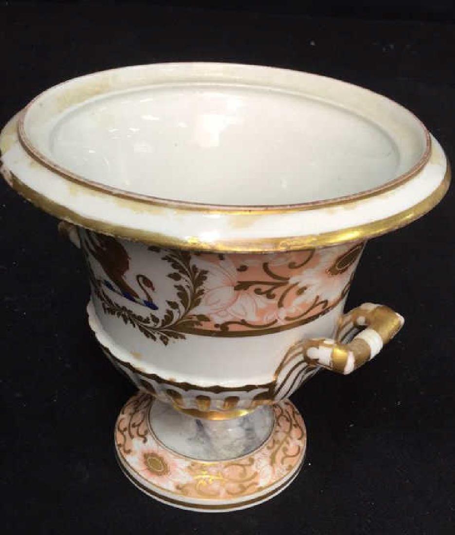 Antique Painted Porcelain Urn W Lion - 7