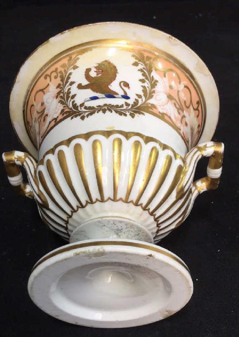 Antique Painted Porcelain Urn W Lion - 8
