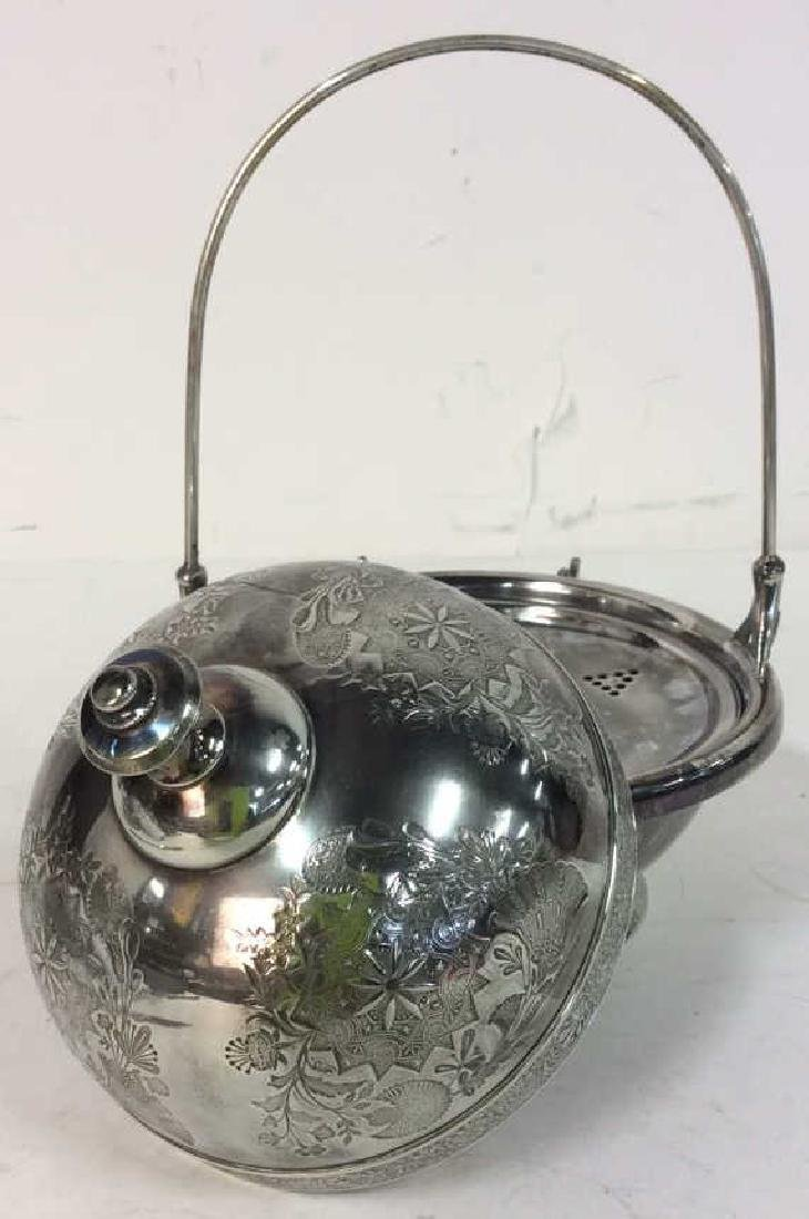 Silver Plate Victorian Style Butter Dish W Knife - 6