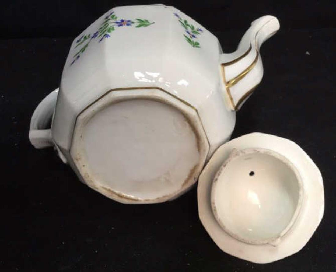 Vintage Hand Painted Porcelain Tea Pot - 10