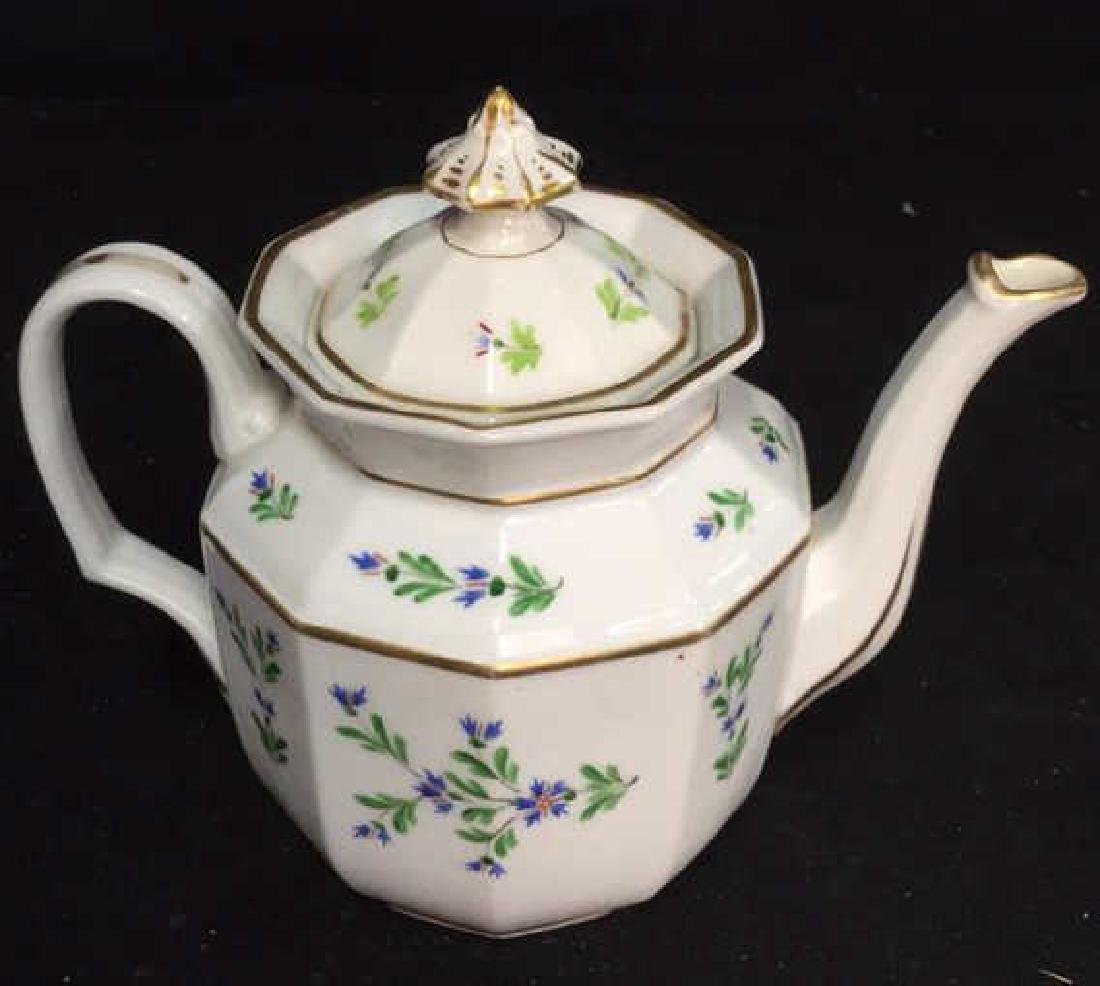 Vintage Hand Painted Porcelain Tea Pot - 2