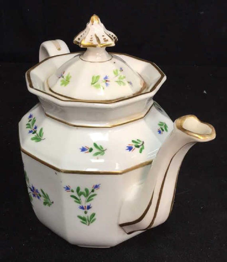 Vintage Hand Painted Porcelain Tea Pot - 3
