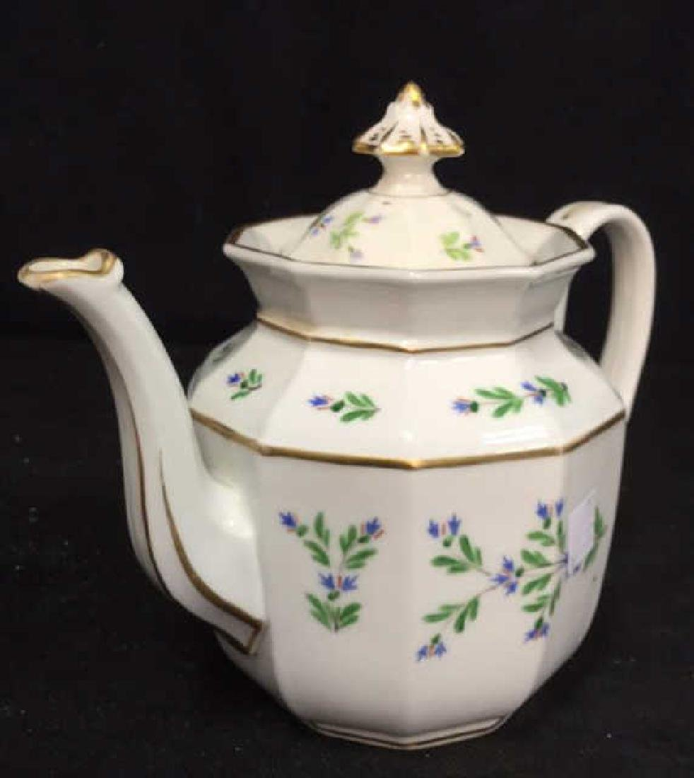 Vintage Hand Painted Porcelain Tea Pot - 4