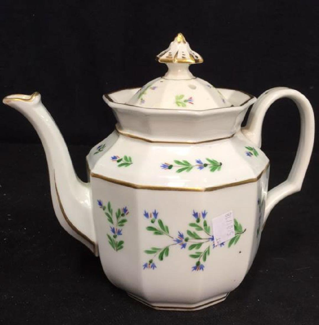 Vintage Hand Painted Porcelain Tea Pot - 5