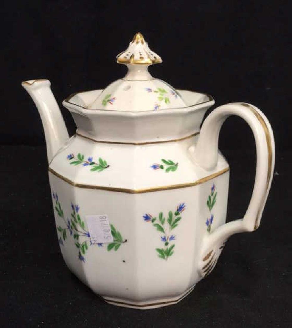 Vintage Hand Painted Porcelain Tea Pot - 6