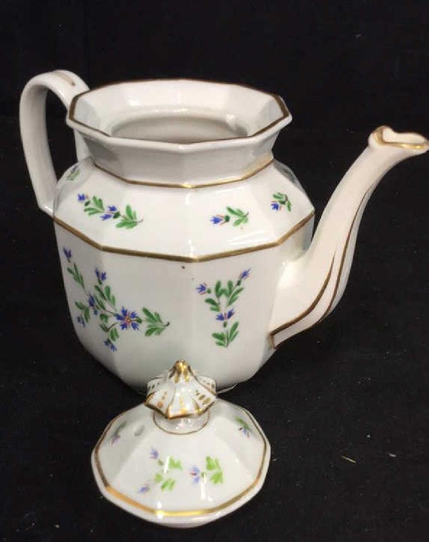 Vintage Hand Painted Porcelain Tea Pot - 8
