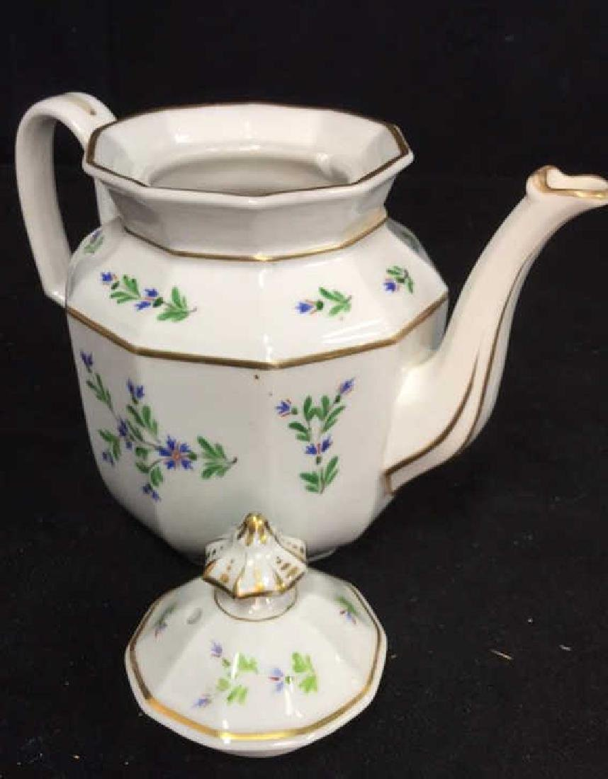 Vintage Hand Painted Porcelain Tea Pot - 9