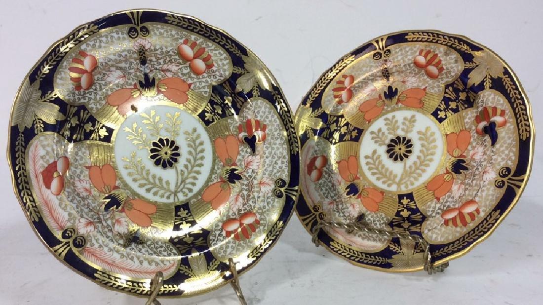 Pair ROYAL CROWN DERBY ENGLAND Plates