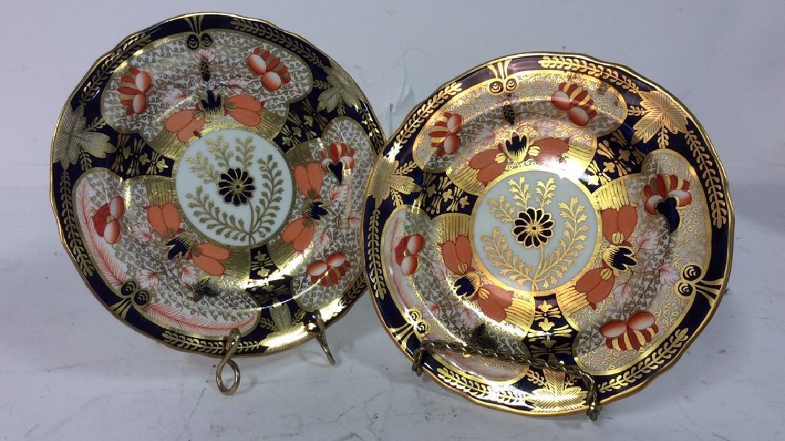Pair ROYAL CROWN DERBY ENGLAND Plates - 2