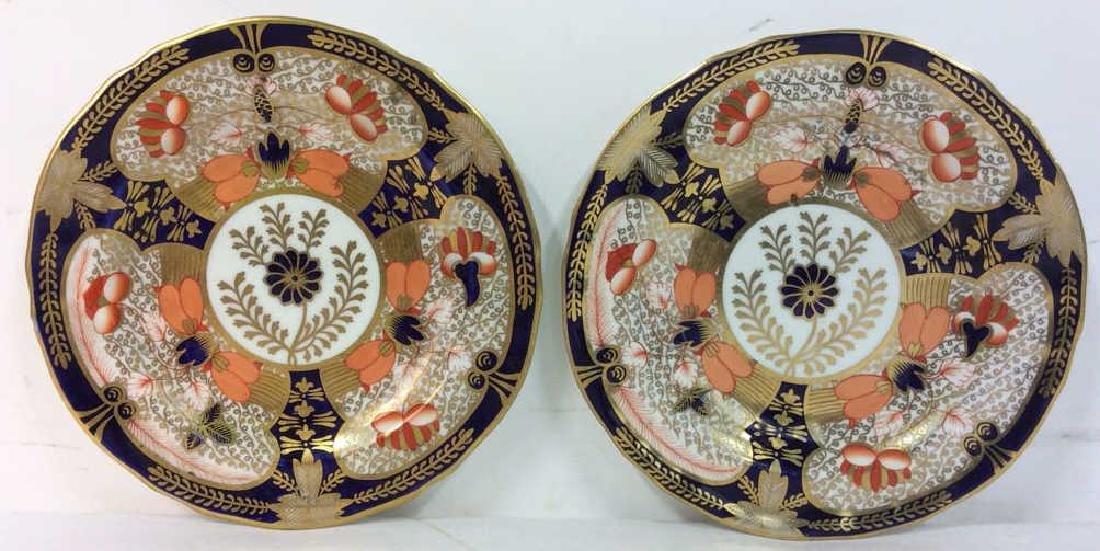 Pair ROYAL CROWN DERBY ENGLAND Plates - 5