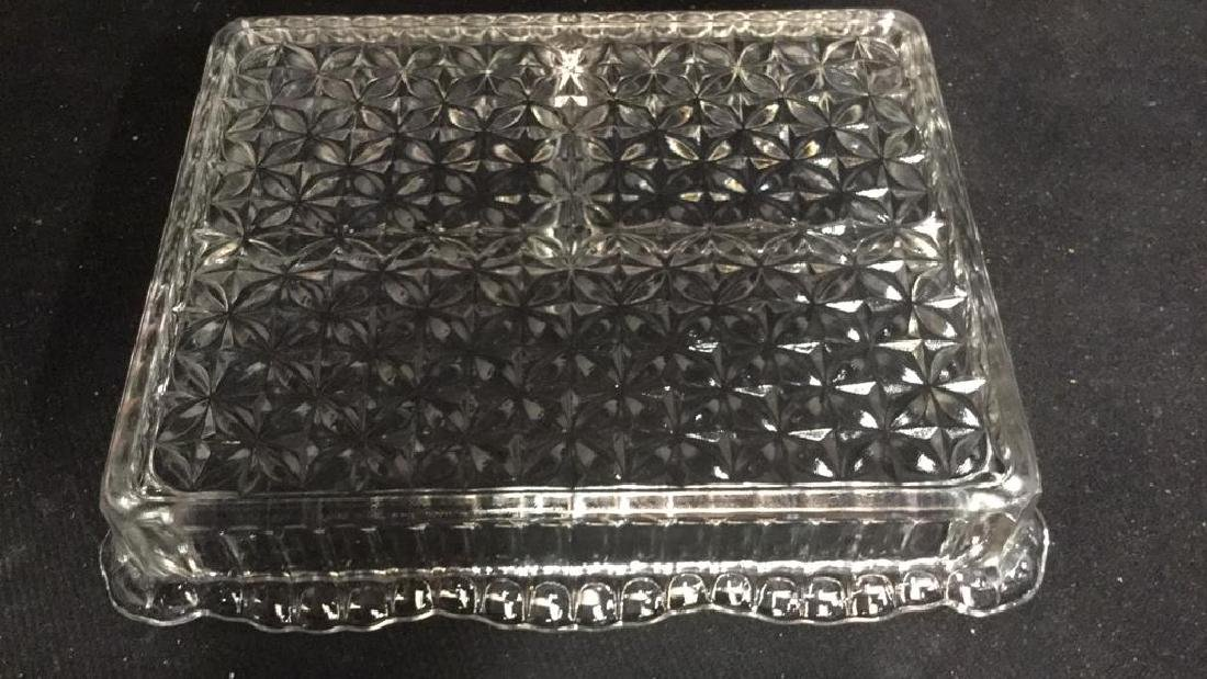 Vintage Silver Pl Lidded Glass Candy Dish - 10