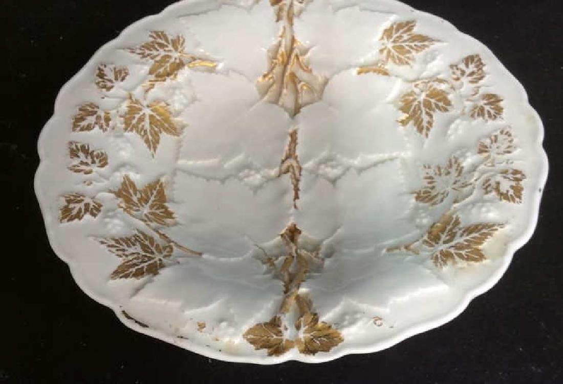 Meissen White Gold Textured Porcelain Plare - 2