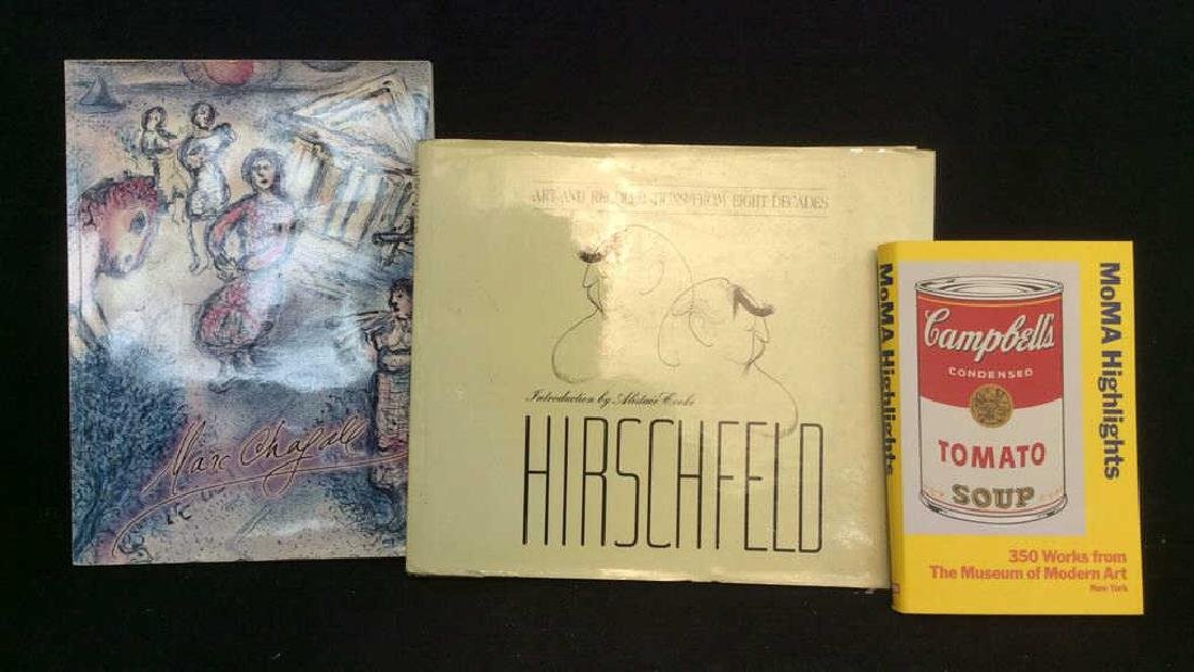 Lot 3 Art Books, MOMA, Chagall, Hirschfield