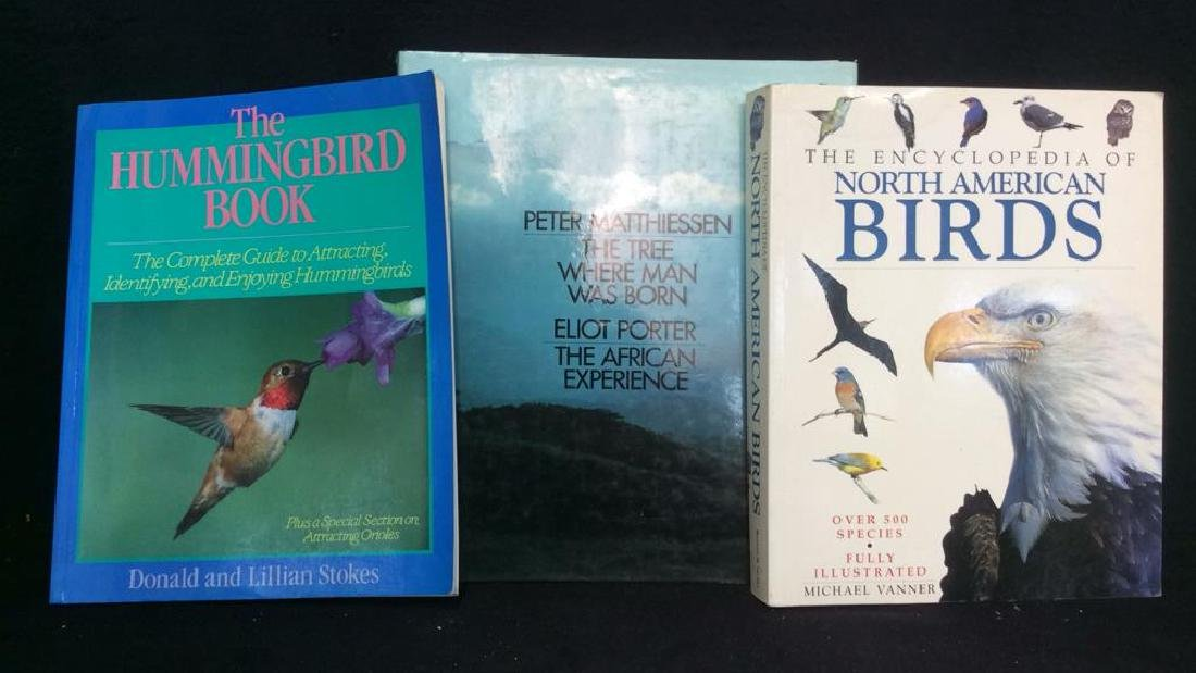 Lot 3 Bird & Nature Coffee Table Books