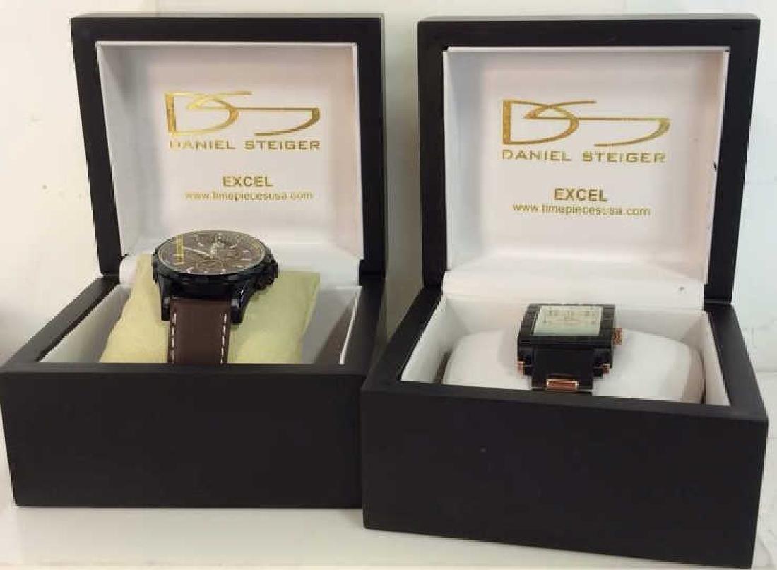 Pair DANIEL STEIGER Excel Men's Wristwatches