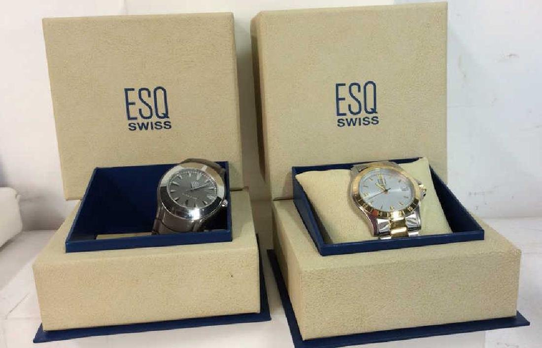 Pair ESQUIRE SWISS Men's Wristwatches