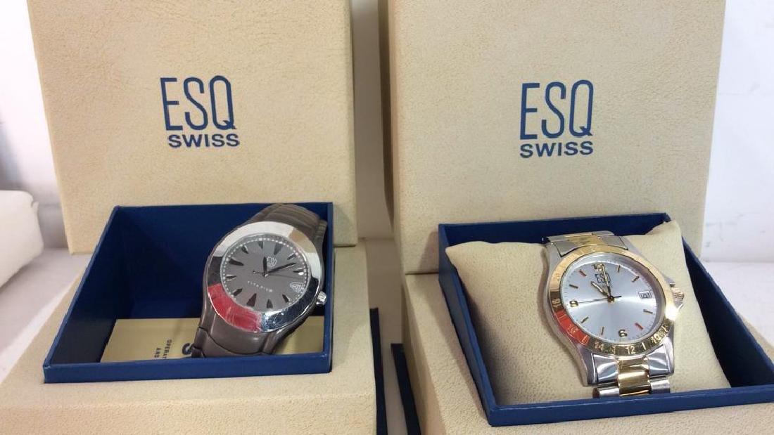 Pair ESQUIRE SWISS Men's Wristwatches - 2