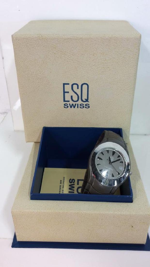Pair ESQUIRE SWISS Men's Wristwatches - 3