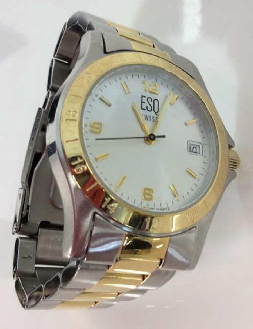 Pair ESQUIRE SWISS Men's Wristwatches - 7
