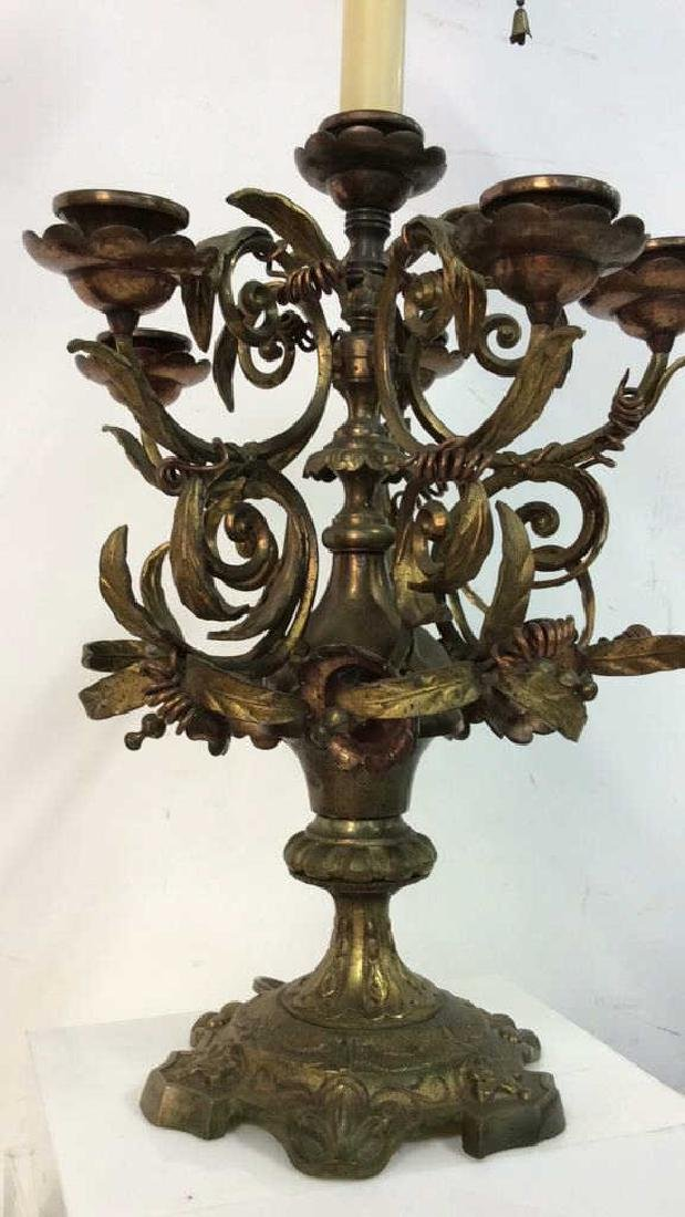 Bronze&Brass Scroll Metal Candelabra Form Lamp