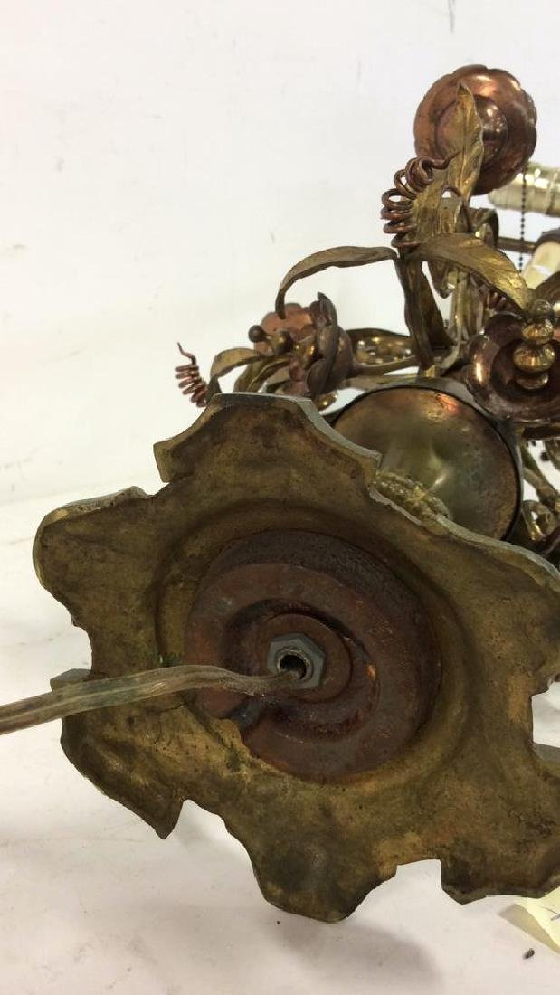 Bronze&Brass Scroll Metal Candelabra Form Lamp - 9