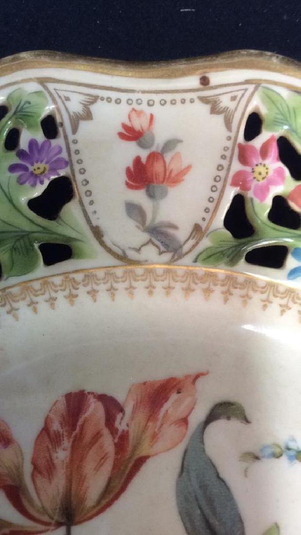 BAVARIA Pierced Porcelain Floral Detailed Plate - 10