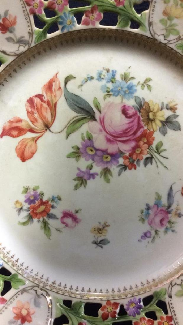 BAVARIA Pierced Porcelain Floral Detailed Plate - 4