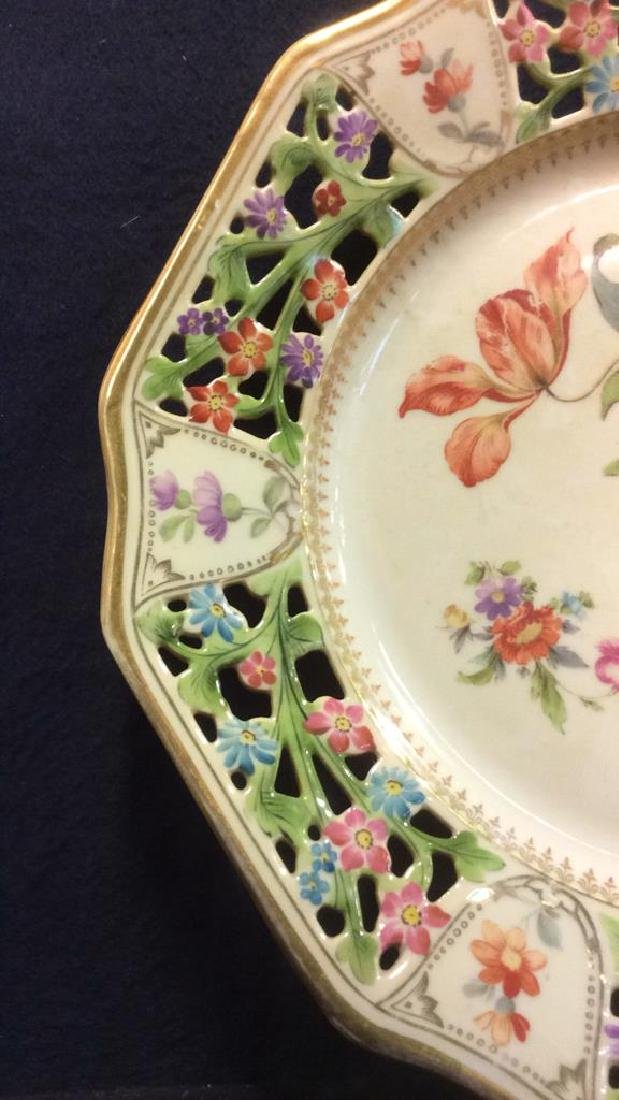 BAVARIA Pierced Porcelain Floral Detailed Plate - 7